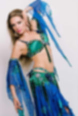 Louchia blue and green serious Genie pos