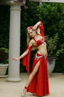 Louchia red costume white diamonds Genie