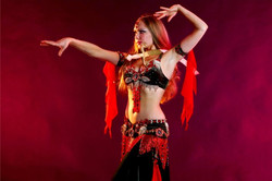 Louchia red and black with sword