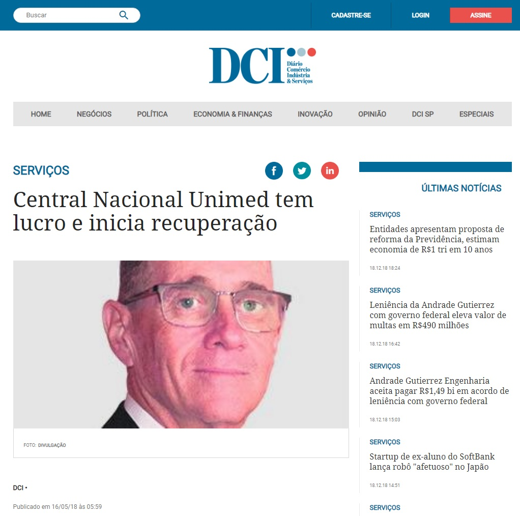 Central Nacional Unimed na DCI