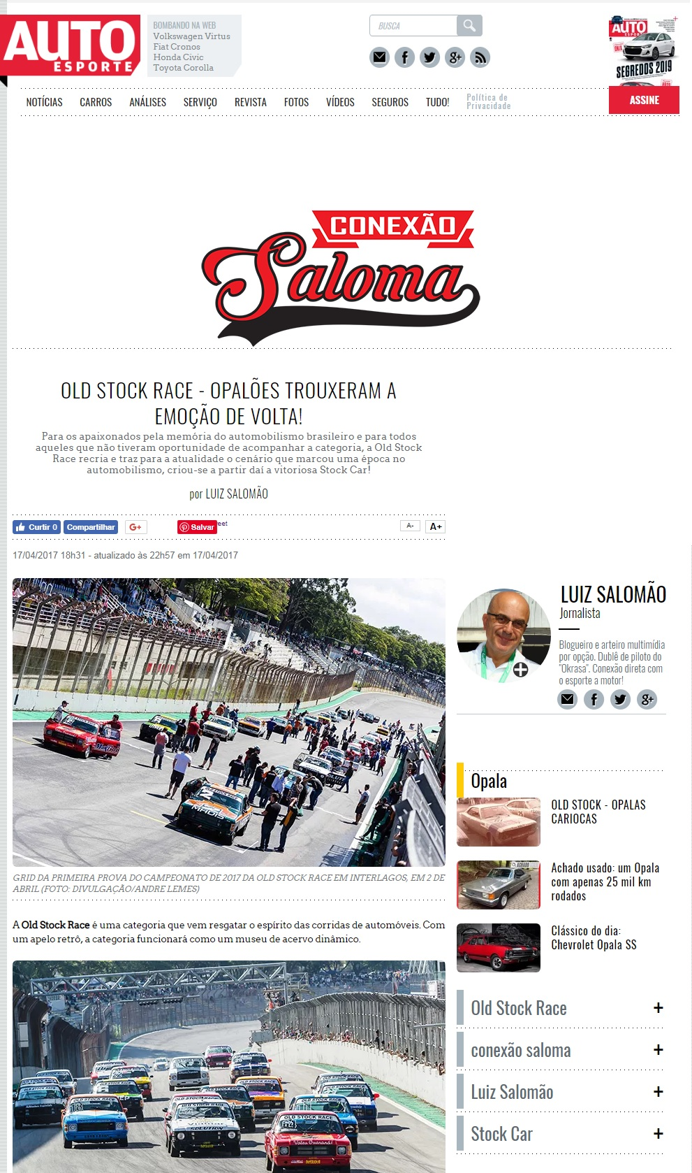 Old Stock Race no Auto Esporte