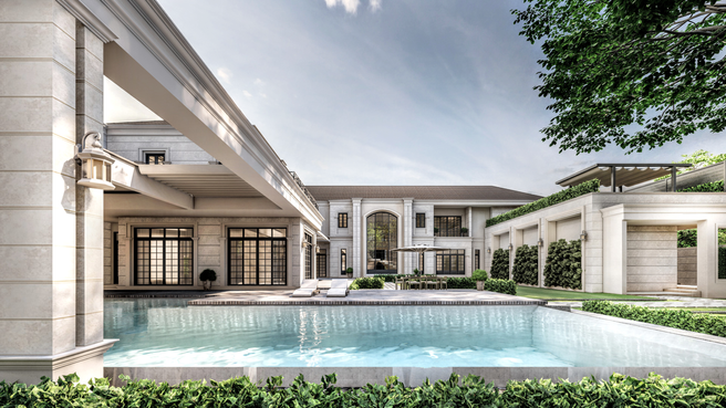 Private Residence: Timeless Sanctuary: Side view