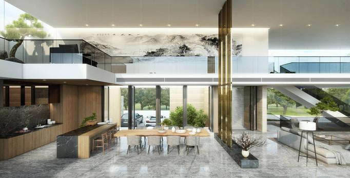Modern Luxury Entertainment Area