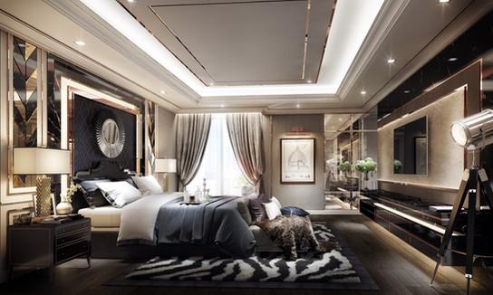 Modern Luxury Master bedroom