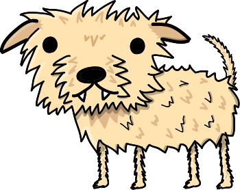Pawl the Scruffy Dog