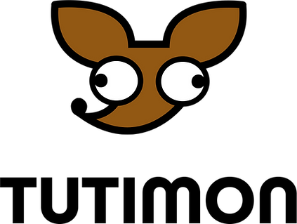 The Tutimon Logo. Showing a cartoon face of chihuahua
