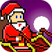 The app icon for Santa's Night. A pixel art image of Santa with a full moon behind him.