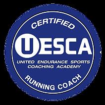 Blue UESCA Running Coach Logo - Transpar