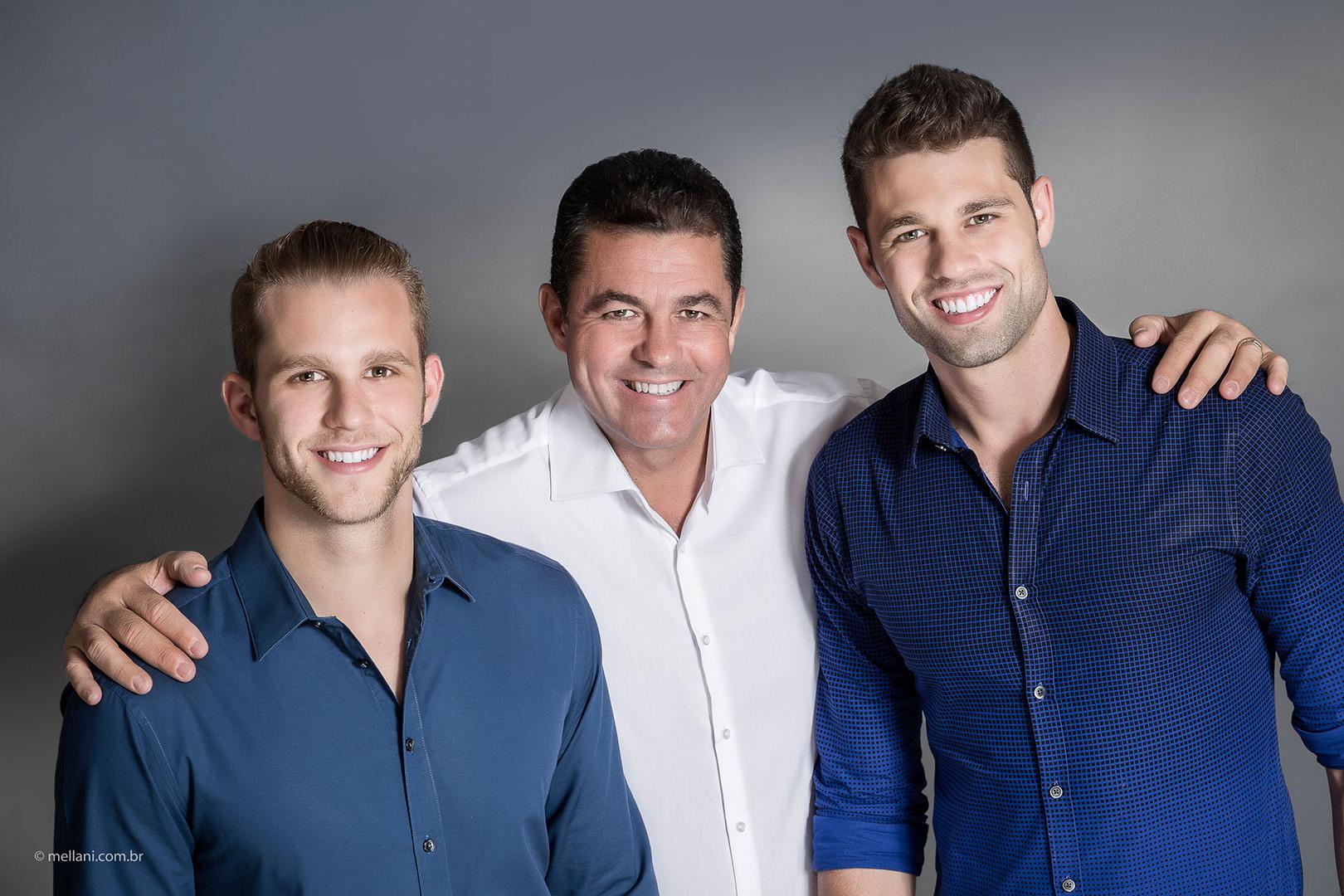 Stéffano, Daniel e Daniel Moraes.