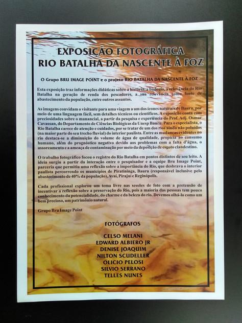 Exposição Rio Batalha e Cerrado no Jardim Botânico