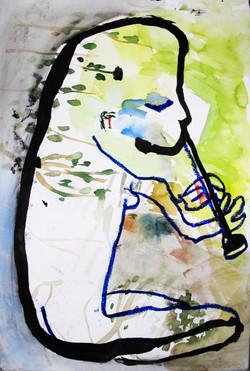 Svea plays the flute