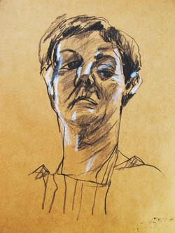 Self Portrait on Brown Paper