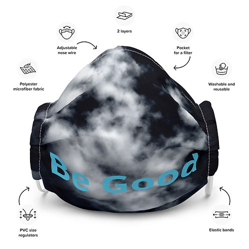 Be Good by Dom Premium face mask