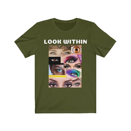 Look Within by Deisi Colletion Unisex Jersey Short Sleeve Tee