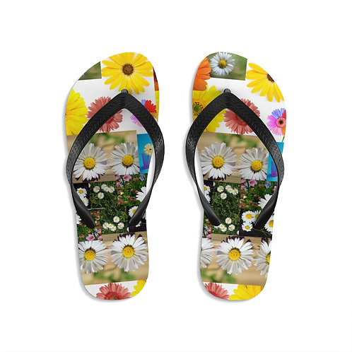 Walking on Daisies by Deisi Collection Unisex Flip-Flops