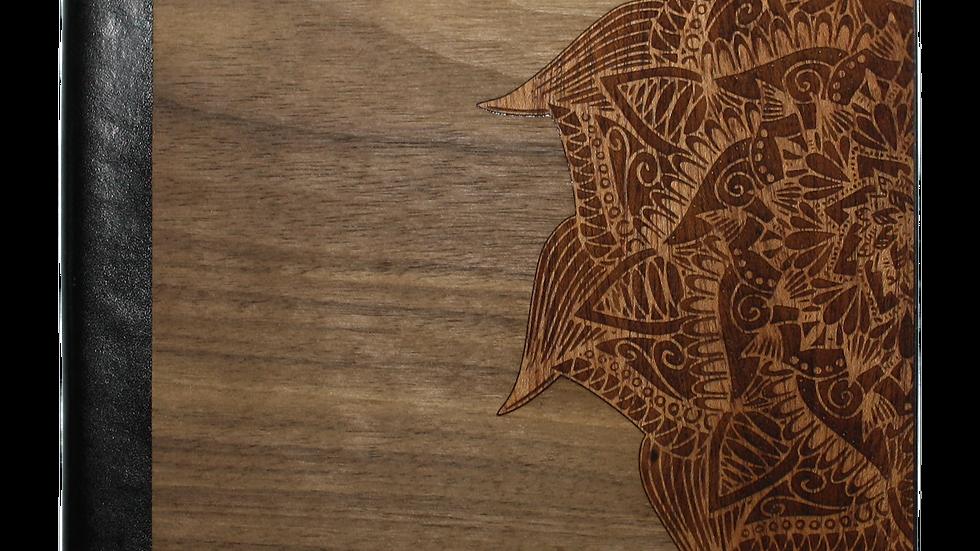 Wooden Journal / Planner   Yoga Mandala Inlay