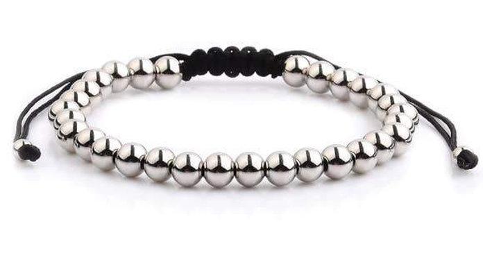 Polished Stainless Steel Men's Adjustable Bracelet