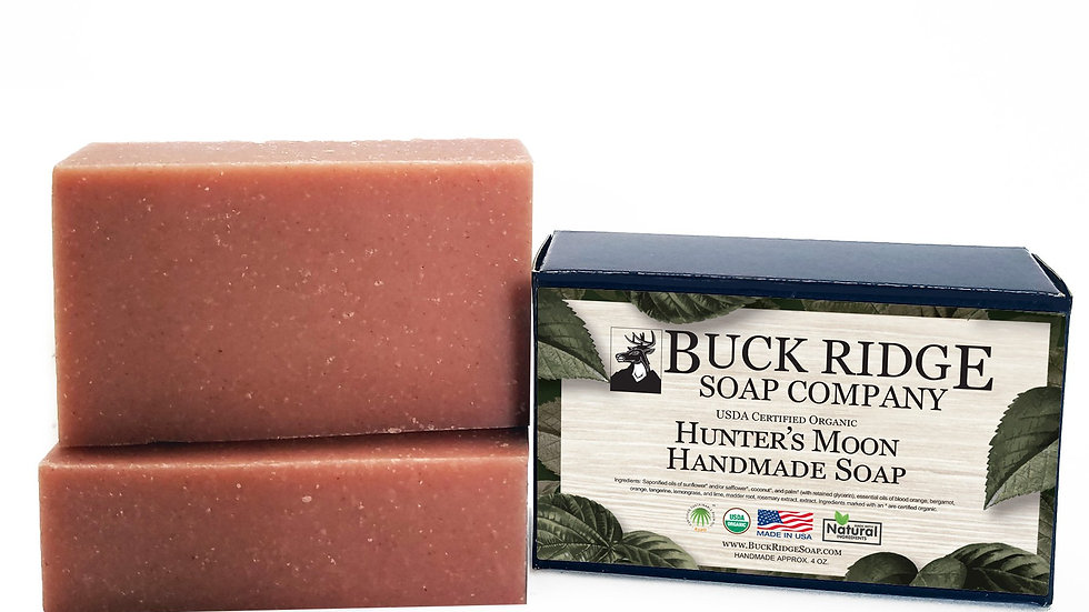 Hunters Moon Men's Handmade Soap - USDA Certified Organic