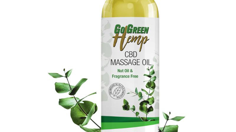 GoGreen Hemp CBD Massage Oil 250mg