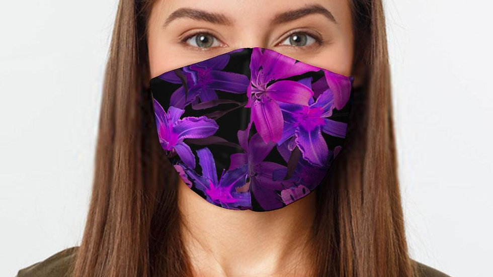 Purple Flowers Preventative Face Mask