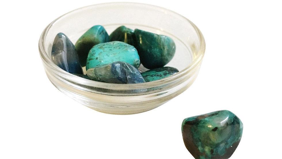 Chrysocolla Crystal Gemstones - 1, 3 or 5