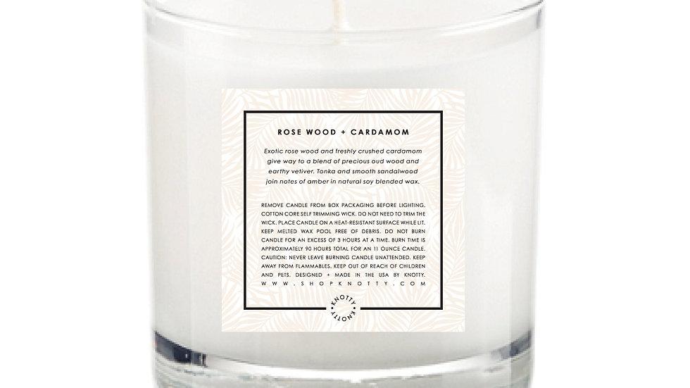 Soy Candle | Rose Wood + Cardamom