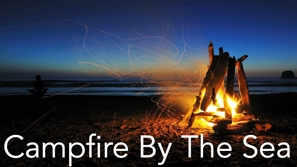Campfire by the Sea