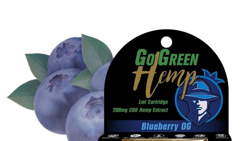 GoGreen Hemp CBD 200mg Pre-Filled Blueberry OG Cartridge