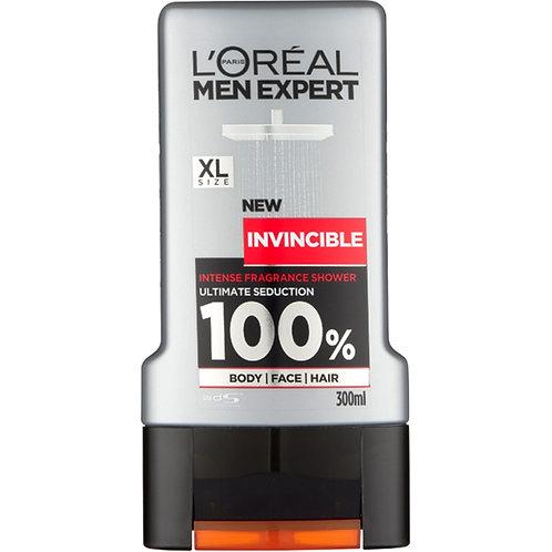 L'Oreal Men's Expert Invincible Intense Fragrance Shower Gel, 300ml