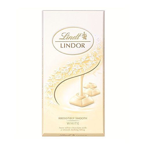 Lindt Lindor white chocolate irresistibly smooth