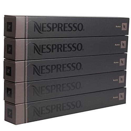 Nespresso Roma Coffee Capsules (50 Pods) - 5 Sticks