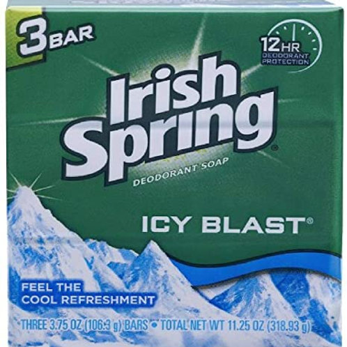 Icyblast Cool Refreshment Deodorant Soap by Irish Spring 3 Count
