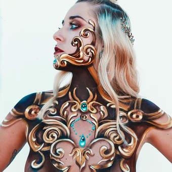 Body Painting - metalic effect