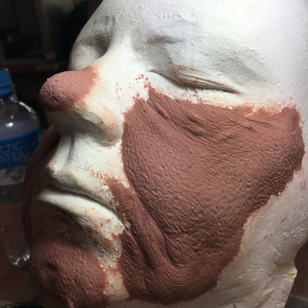 SCULPTING OLD AGE PROSTHETIC