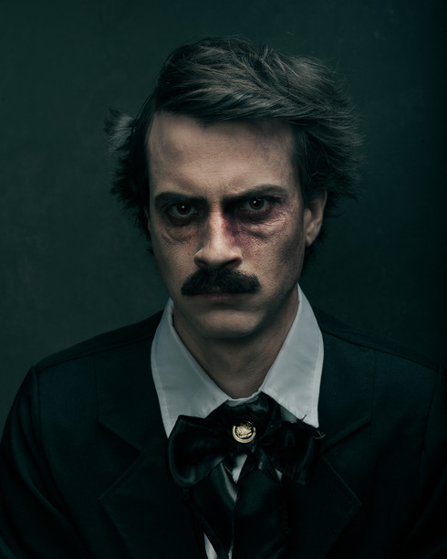 Allan Poe looks exhasuted and one part of his face is getting more monstery-like. This would be the final scene where we can finally see that Hop-Frog is the character which Poe uses as a personification of his revenge.