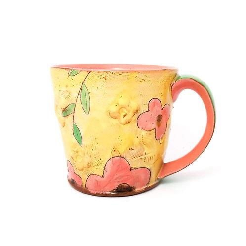 Pre-Order Floral Small Mug 7-9oz Kid's Mug/Espresso