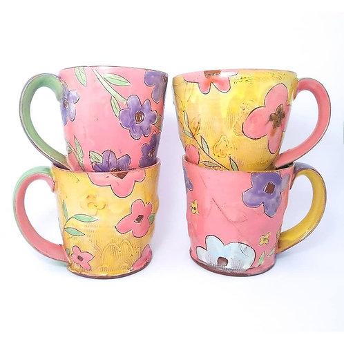 Pre-Order Floral Mug 15-16 oz