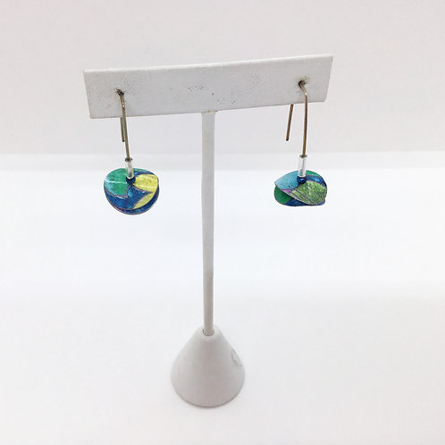Small Disc-Series, Colorful Earrings