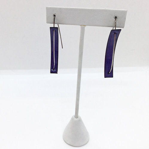 C-Series, Long Purple Earrings