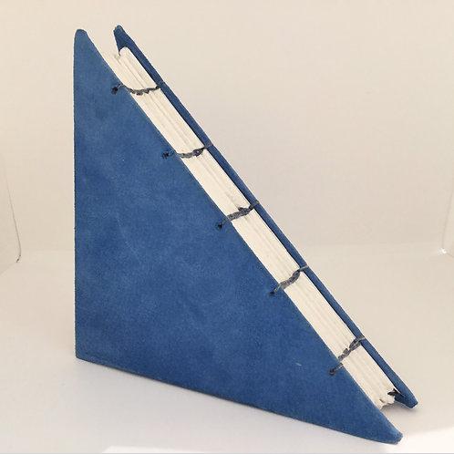 Blue Felt Triangle-shaped Journal