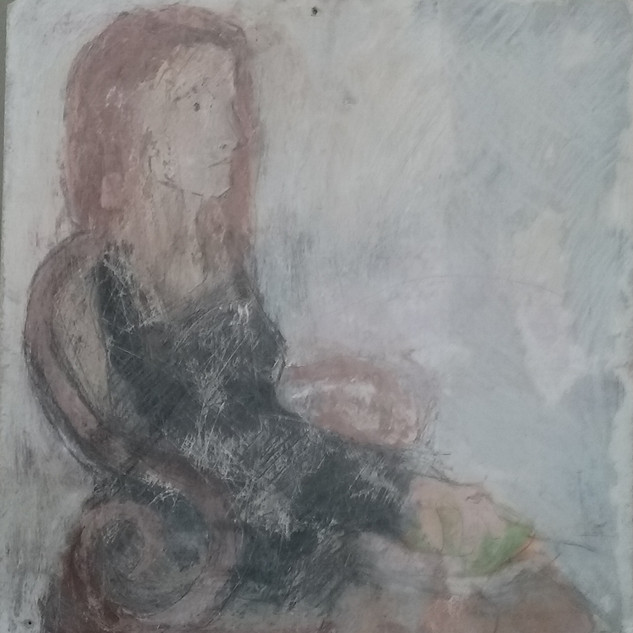 Woman with Pear