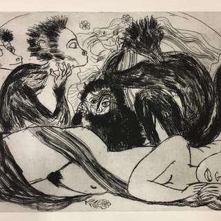 etching Monkeys with Bride 18x24_.jpg