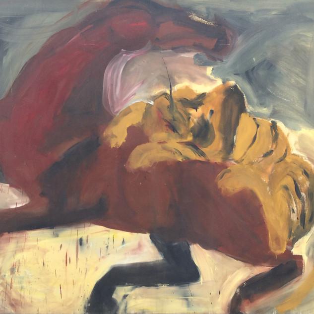 Tiger Attacking Horse