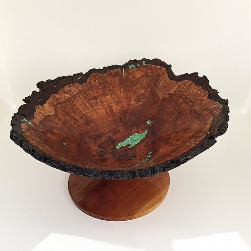 "9"" Black Cherry Burl Bowl, Large"