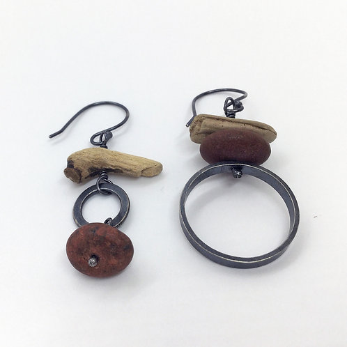 Mismatched Driftwood Earrings