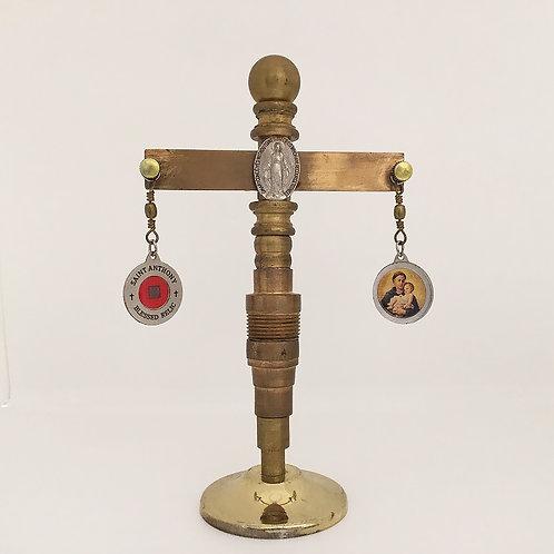 Brass Otis Elevator Cross