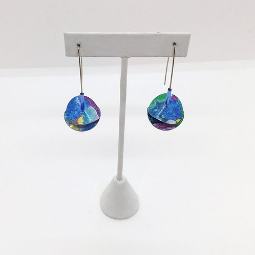 Large Disc-Series, Colorful Earrings