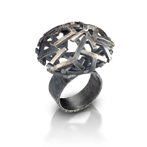Astro 2 Ring, Black and White