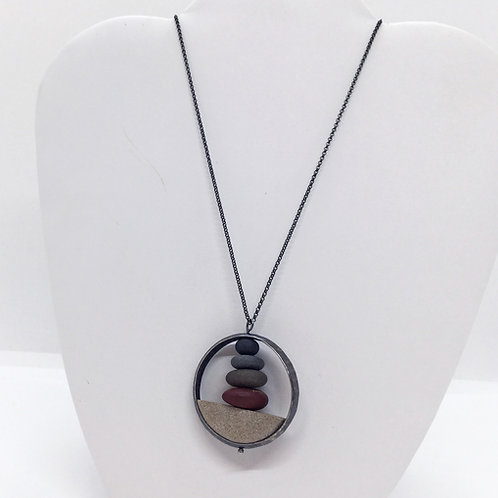 Doomed Circle Stack Necklace