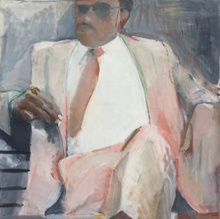 Seated Man in Summer
